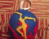DMB Dave Matthews Band Fire Dancer felt Christmass tree ornament or stocking stuffer