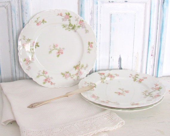 Antique Haviland Frontenac Bread Butter Plates Limoge China