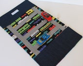 Kids Car Wallet and Play Mat. Activity. Travel Game. Boys Toy. Children Game. Toddler Car Game. Rainbow Trucks. Buses..