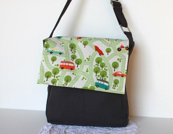 Cars Messenger Bag. Children Fashion. Kids Tote Bag. Boy. Toy Case. Book Bag. School Bag.