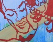Photography -- Graffiti Art of Dancing Couple -- 8x10