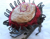 Herpes:  Hand embroidered plush STD bug sculpture