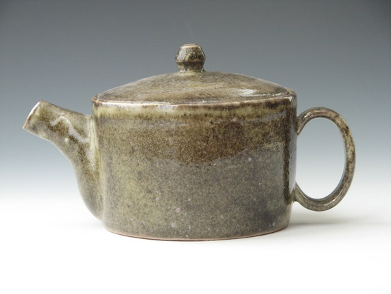 Ceramic Teapot Handmade Pottery Teapot Carbon Trap Shino Cylinder Teapot