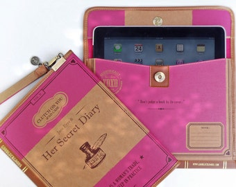 SALE - Clutch on You: Jane Eyre iPad case, Book Clutch, Waterproof Pouch