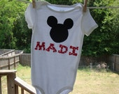 Mickey Mouse name onesie