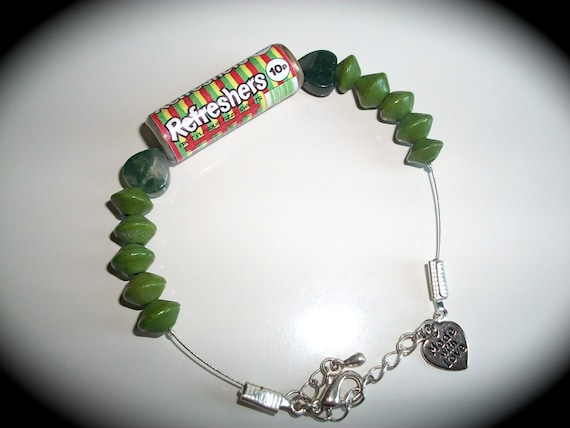 Fun funky quirky unusual Refreshers beaded bracelet