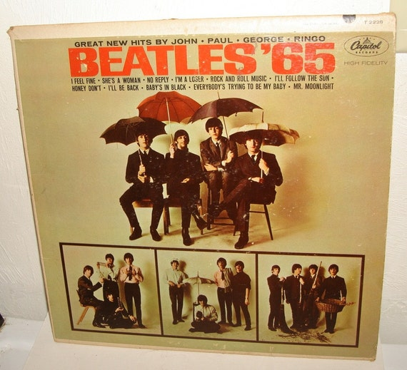BEATLES '65 Capital LP Record Album T2228