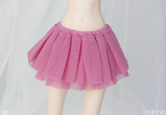 Slim MSD Raspberry Fluff Skirt