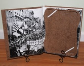 Asus Eee Pad Transformer Case Cover - made from a Real Book - Light Brown Floral - ReAuthored