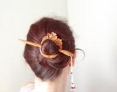 shawl pin Japanese Cherry blossom geisha hair pin kanzashi cosplay woodland mori girl