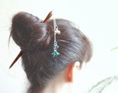 Turquoise the Mermaid hair stick