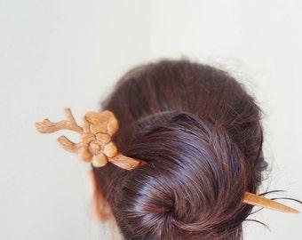 For Mio- cherry blossom hair stick japanese kanzashi gesiha hair accessories Korean hair pin