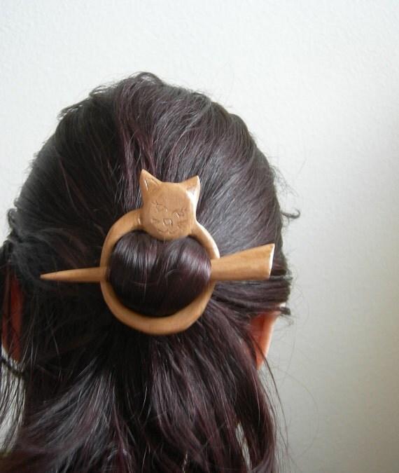 cat shawl pin hair barrette hair pin hair stick hair Accessories kitten