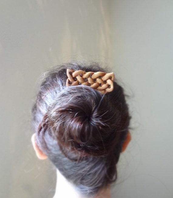 Celtic knot hair fork