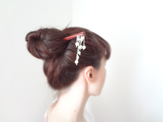 pure angel- hair stick wedding hair stick french  luxury