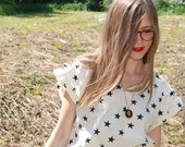 Vintage white 80s structured star t-shirt