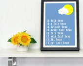 SAMPLE SALE Sunny French Typographic Digital A4 Artwork