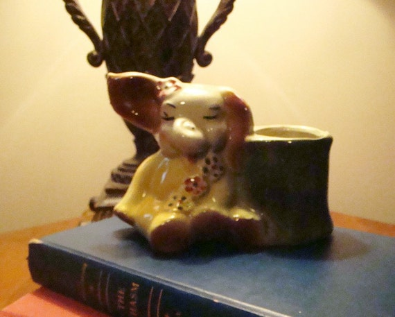 Vintage ceramic elephant planter from estate