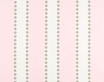 """Two 96"""" x50""""  Custom Curtain Panels - Rod Pocket Panels - Pink and White Stripes"""