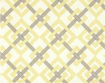 Two 26 x 26 Custom Designer Decorative Pillow Covers - Waverly - Geometric Yellow and Grey