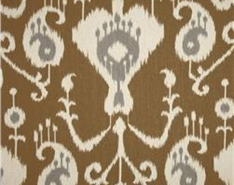 "Two  96"" x 50""  Custom  Curtain Panels  - Rod Pocket Panels - Java Ikat Design"