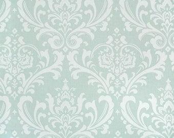 "Two  96"" x 50""  Custom Curtain Panels  - Rod Pocket Panels  in 100%  Cotton Fabric - Powder Blue"