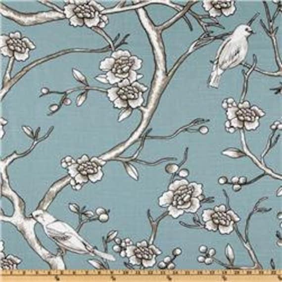 "Two  96"" x 50""  Custom Drapes - Rod Pocket Panels -  Vintage Blossom- Dwell Studio - Robert Allen"