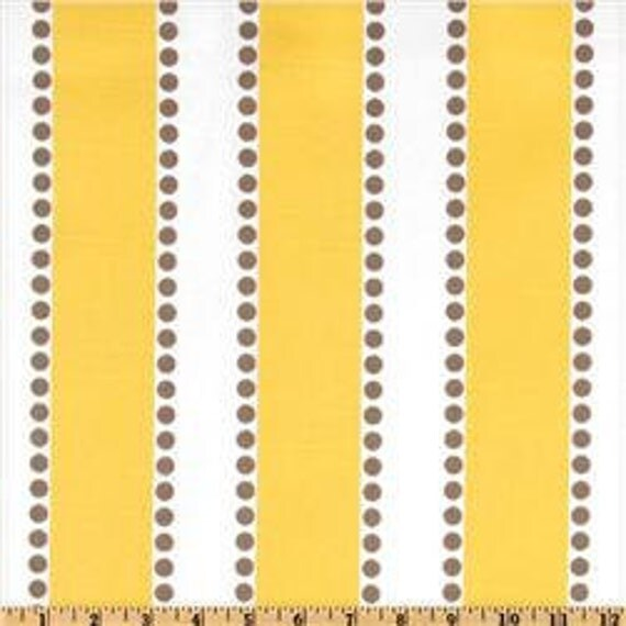 Two 26 x 26 Designer Decorative Pillow Covers in 100% Designer Cotton Fabric- Yellow Stripes