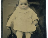 Baby in Chair (Tintype)