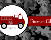 Personalized Firetruck Placemat