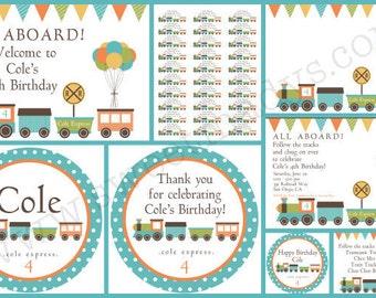 Train Birthday Printable Party Set