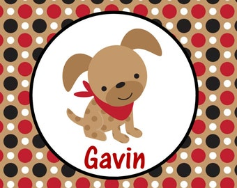 Personalized Puppy Dog Placemat