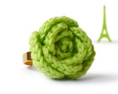 Apple green rose ring - original gift from France