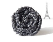 Sparkling grey rose ring - original gift from France