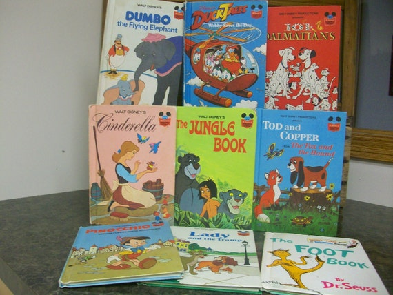 Lot of 9 Walt Disney Wonders of Reading Books