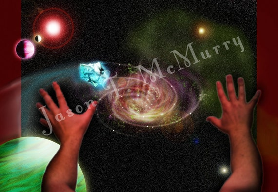 Fine Art Photography, Space, Illustration, Planets, Into The Vortex, 11x17 fine art photography, color print