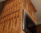 Kitchen cabinetry, bark inlcusion oak & olive ash burl