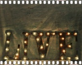 """letter light fixture marquee light fixture rusty metal 18"""" tall letters any 4 letter word"""