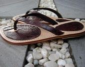 Mare Snakeskin Strap Leather Sandals 060BRWN