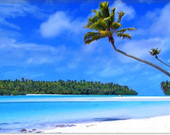 "The Island Canvas Giclee Art Print (27) 12""x8"""