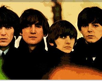 "Beatles Canvas Giclee Art Print (439) 18""x12"""