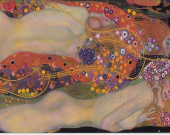 "Water Serpents II 1907 by Gustav Klimt (1098) 18""x12"""