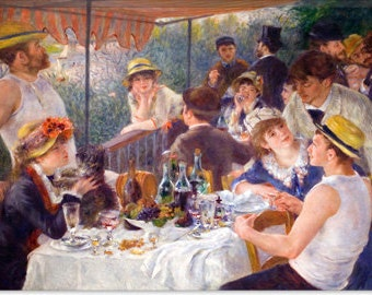 "The Luncheon of the Boating Party 1881 by Auguste Renoir aka Pierre-Auguste Renoir (1129) 18""x12"""