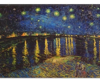 """Starry Night Over The Rhone by Vincent Van Gogh (1322) 26""""x18"""""""