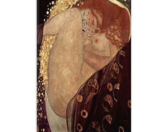"Danae by Gustav Klimt Canvas Art Print (1101) 18""x12"""