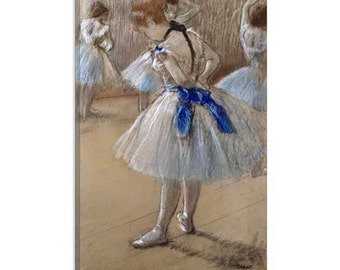 "A study of a dancer (Danseuse) by Edgar Degas Canvas Art Print (1059) 40""x26"""