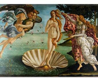 "The Birth of Venus by Botticelli Sandro Canvas Art Print (1413) 12""x8"""
