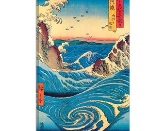 "Navaro Rapids, C.1855 by Ando Hiroshige Canvas Art Print (1407) 41""x27"" Thick Bars"