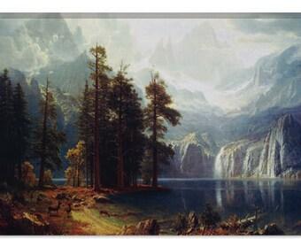 "Sierra Nevada In California by Albert Bierstadt Canvas Art Print (1492) 18""x12"""