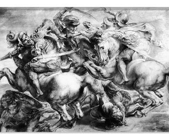 "The Battle of Anghiari by Peter Paul Rubens Canvas Art Print (1437) 12""x8"""